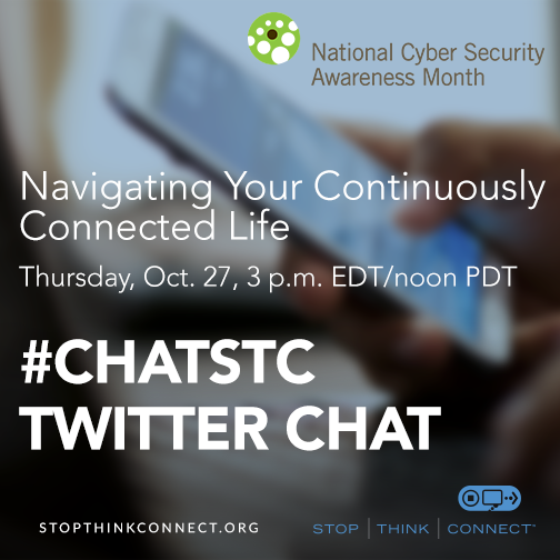 Navigating Your Continuously Connected Life #ChatSTC Twitter Chat