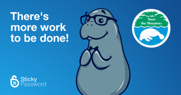 Sticky Password continues support for manatees