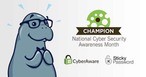 Sticky Password becomes National Cyber Security Awareness Month 2017 champion