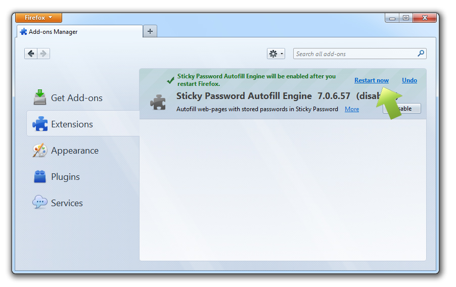 How to manage the Sticky Password autofill extension in browsers on