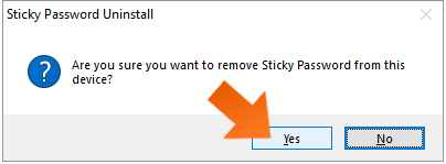 How To Change Your StickyID - click Yes.