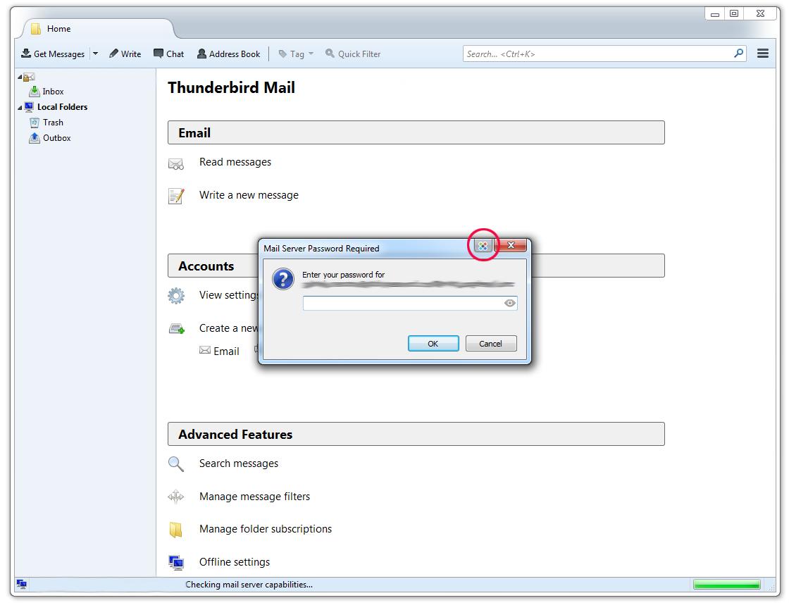 Using Sticky Password with Mozilla Thunderbird on Windows.