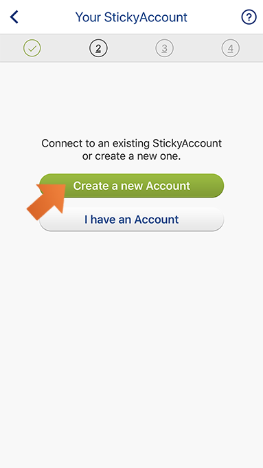 How to install Sticky Password on your iPhone and iPad - Create a new StickyAccount.