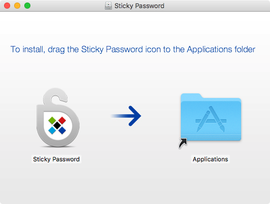How to install Sticky Password on your Mac - run Sticky Password.