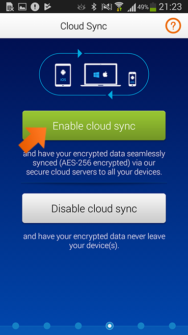 How to install Sticky Password on Android -enable Cloud sync.