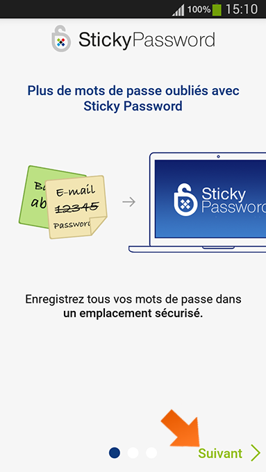 Comment installer Sticky Password sous Android