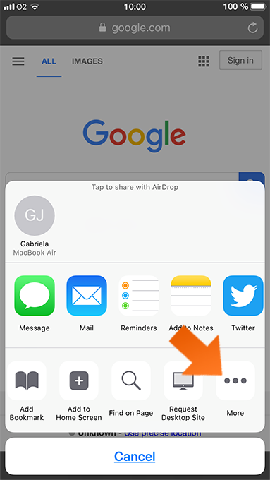 How to enable Sticky Pasword extension for Safari - Tap More.