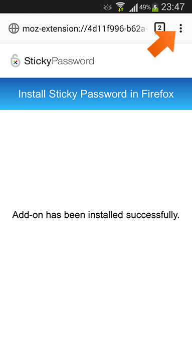 Using Firefox autofill on an Android device