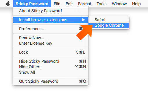 Installing the Sticky Password Extension for Chrome on Mac - Click Install.