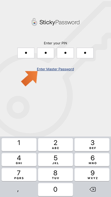 How to set up PIN authentication on your iPhone or iPad - unlock Sticky Password.