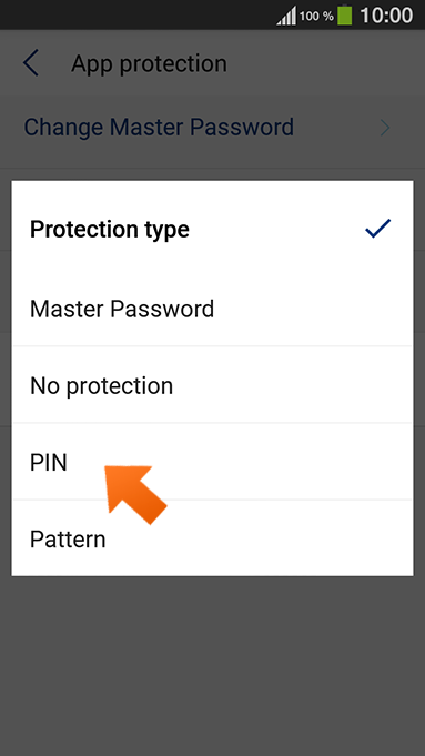 How to set up PIN authentication on your Android - select PIN.