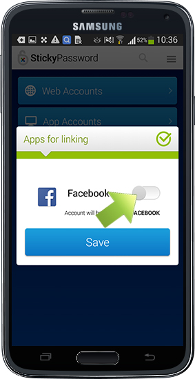 Autofill on apps on your Android device - the Action button