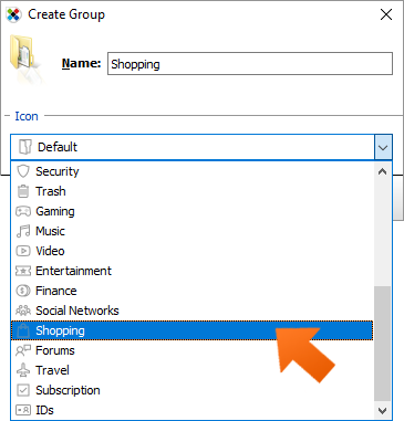 Database clean up with groups on WIndows - enter a name for your group and click OK.