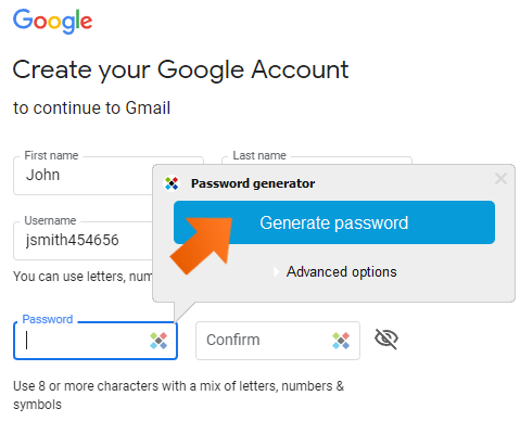 How to create strong passwords with password generator on Windows - Generate password