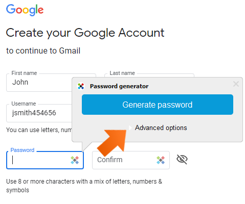 How to create strong passwords with password generator on Windows - Advanced options