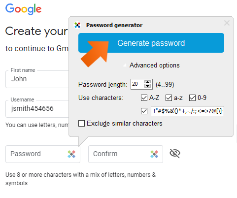 ow to create strong passwords with password generator on Windows - Generate Password