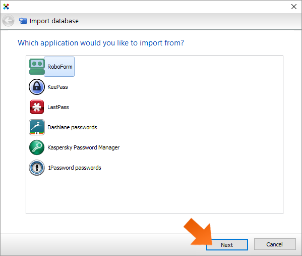 How to import your passwords from Roboform on Windows?
