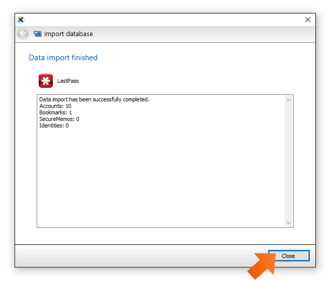 Data import has been successfully completed.