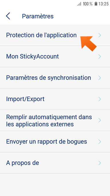 Biométrique : authentification des empreintes digitales sur Android.