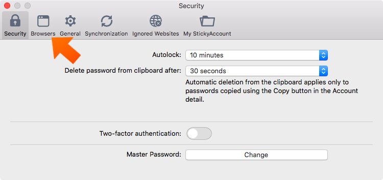 Installing the Sticky Password Extension for Firefox on Mac - click browsers.