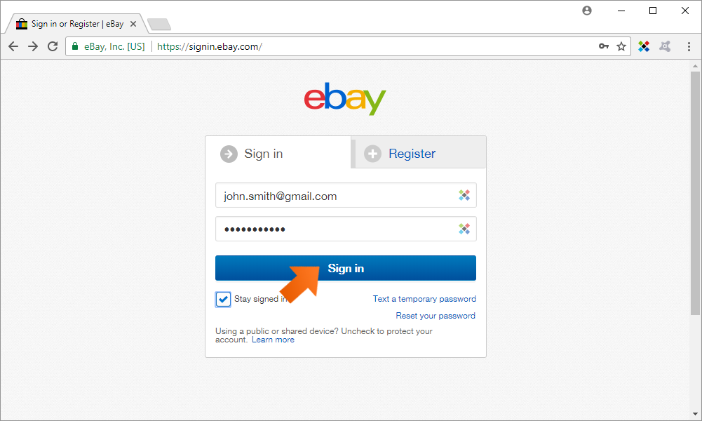 How to add a new Web Account - click Sign in.