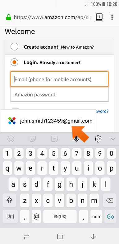Using Sticky Password to autofill passwords on your Android device - single login.