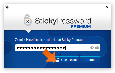 Unlocking when 2FA is enabled - step 1, enter your Master Password as                  usual.