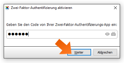 Enabling 2FA - step 6, enter the current 6-digit code from Google                  Authenticator when prompted.