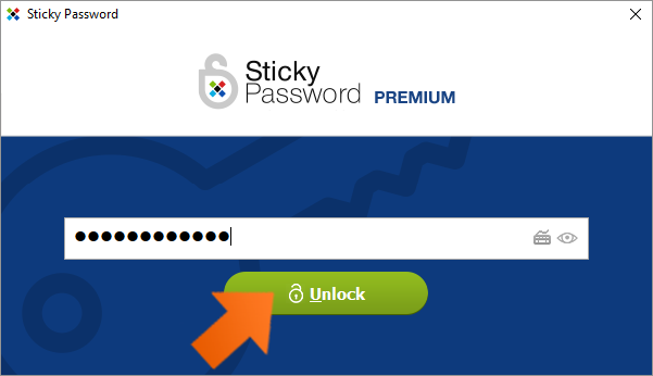 Protect your data with Two-Factor Authentication - Enter Master Password and click Unlock.