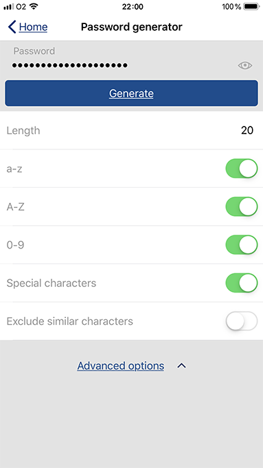 How to create strong passwords with password generator on iPhone and iPad - advanced options.