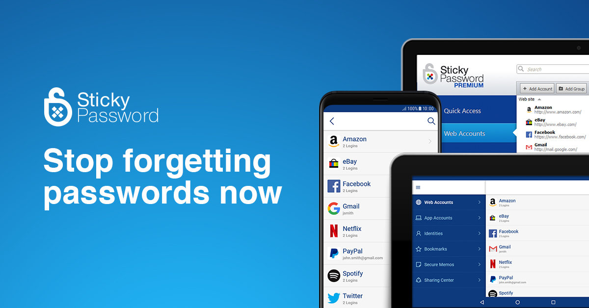 Sticky Password manager for teams, businesses & families